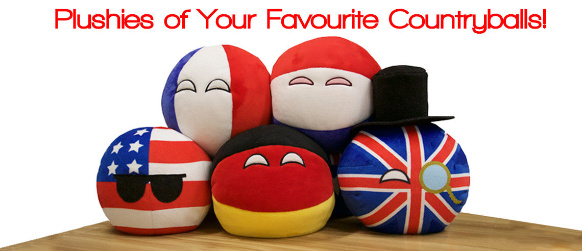 Plushies of Your Favourite Countryballs!