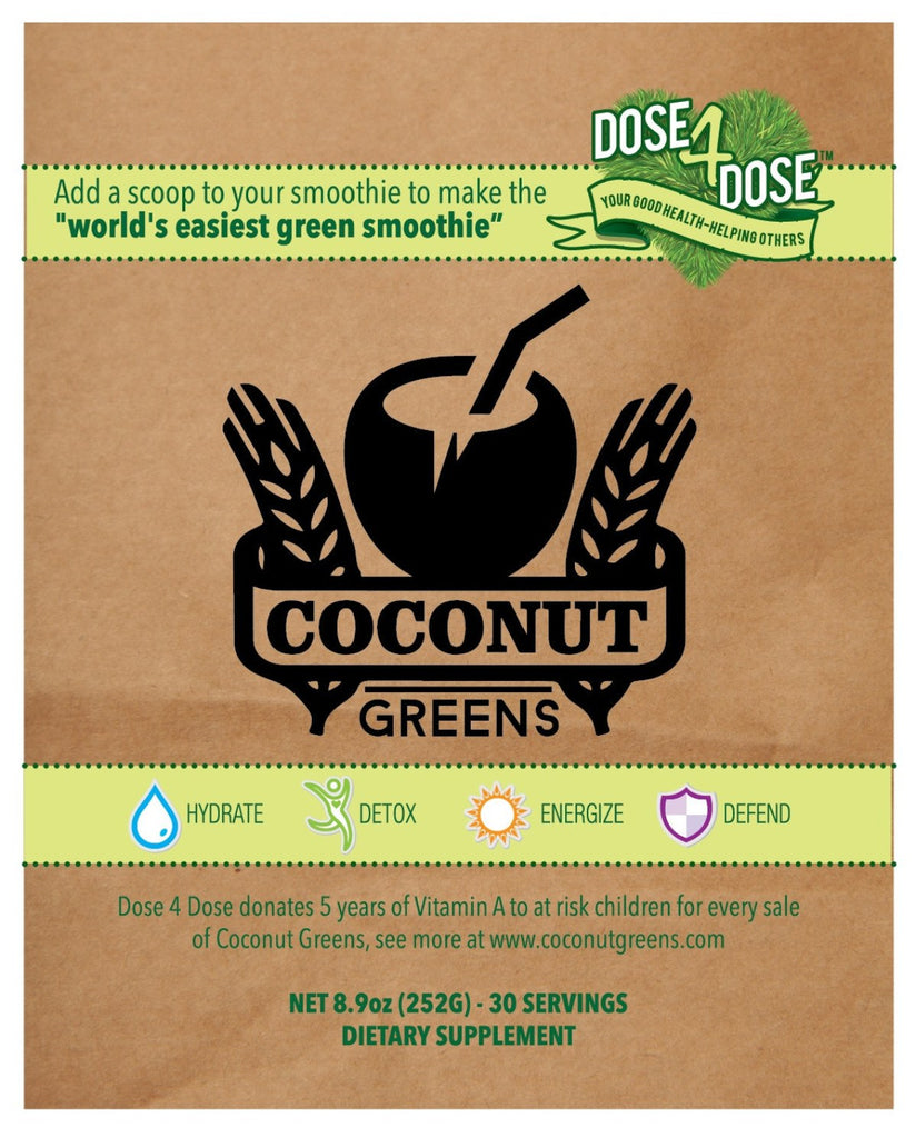 Coconut Greens - Hydrating Coconut water with 8-10 serves of detoxing supergreens