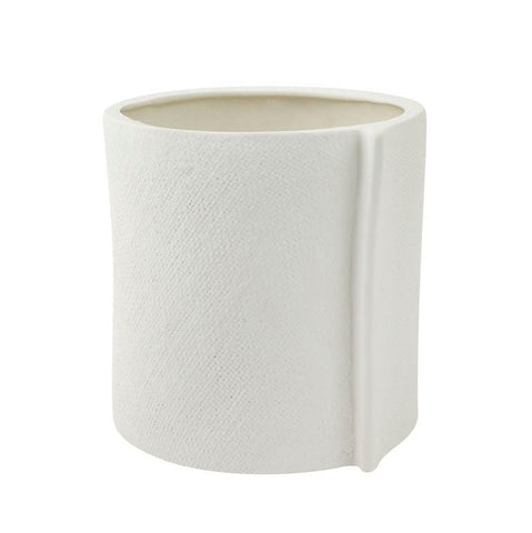 ZAKKIA HOMEWARES Burlap Pot | Large White