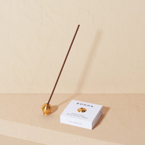 BODHA Ritual Incense Holder | Polished Brass