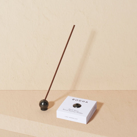 BODHA Ritual Incense Holder | Black Brass