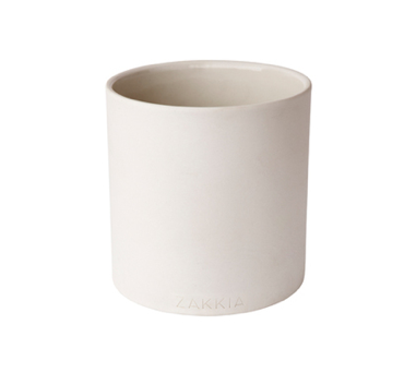 ZAKKIA HOMEWARES Cylinder Pot White