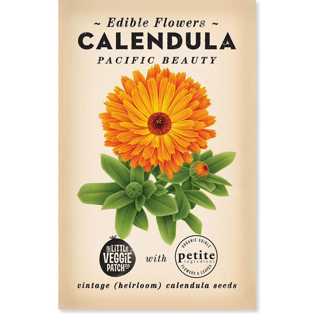 The Little Veggie Patch Co Calendula 'Princess Mix' Heirloom Seeds