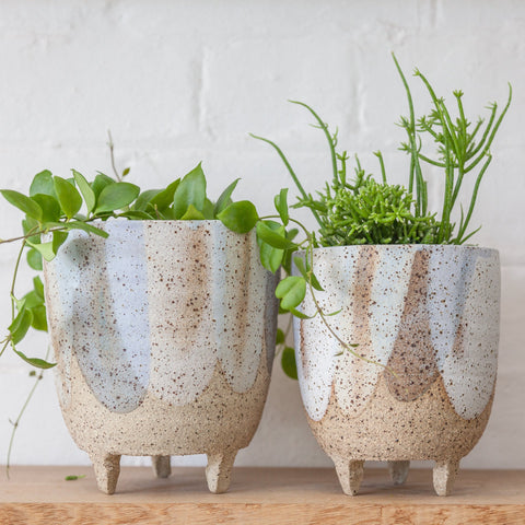 CLAY BY TINA Leggy Planter | Blue