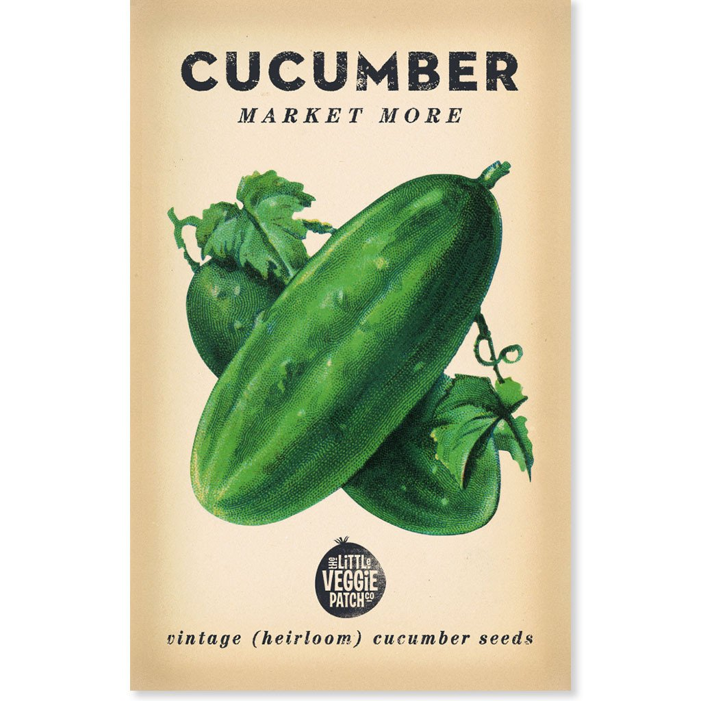 The Little Veggie Patch Co CUCUMBER 'MARKET MORE' HEIRLOOM SEEDS