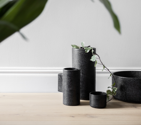 ZAKKIA HOMEWARES Embers Bowl Planter - Charred