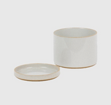 HASAMI Planter + Saucer Medium | Gloss Grey