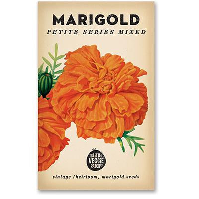The Little Veggie Patch Co MARIGOLD 'PETITE SERIES MIXED' HEIRLOOM SEED