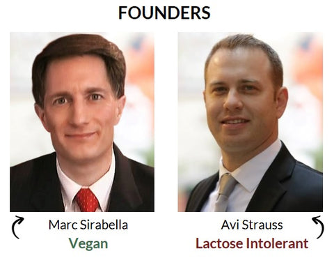 vegan and lactose intolerant founders
