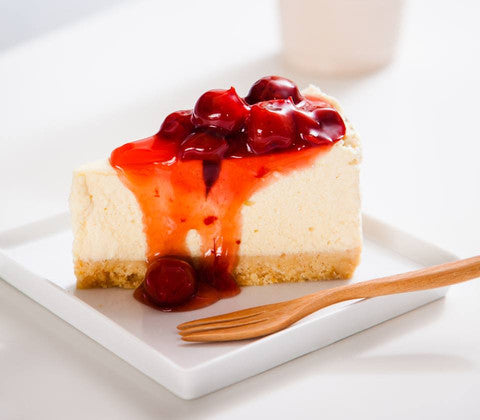 vegan-cherry-cheesecake-slice
