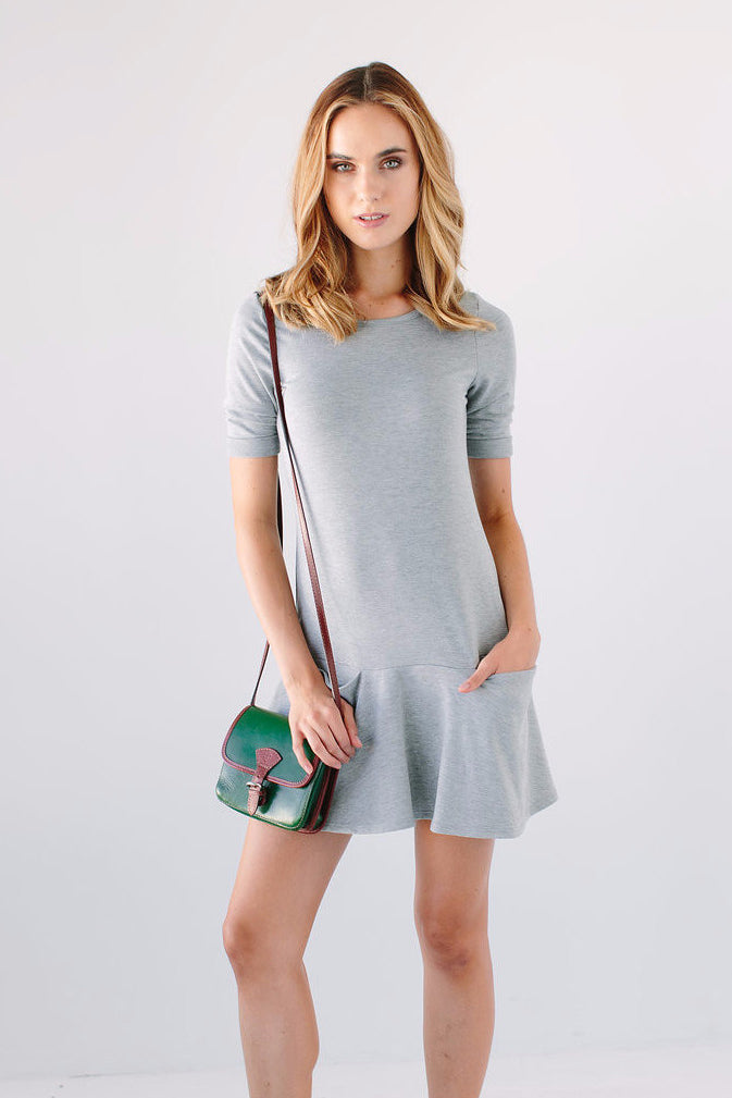 grey two pocket dress