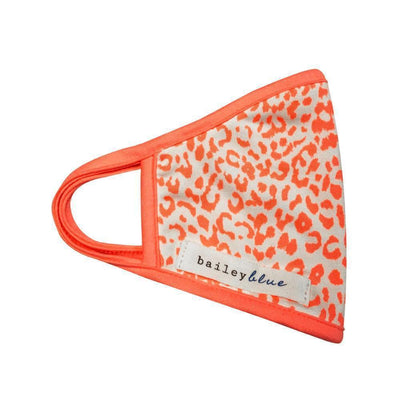 The Bailey Blue Face Covering Sale (Kids) Masks Bailey Blue Pattern - Mini Cheetah Orange