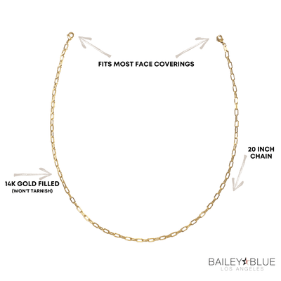 The Bailey Blue Link Face Covering Chain Masks Bailey Blue