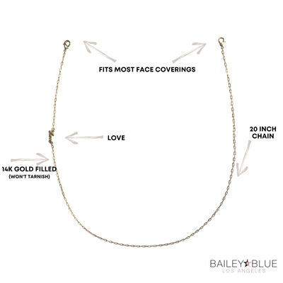 The Bailey Blue Love Face Covering Chain Masks Bailey Blue