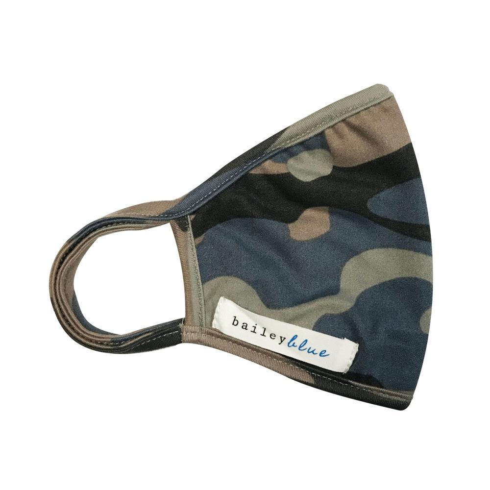The Bailey Blue Pattern Face Coverings (Adults) Masks Bailey Blue Pattern - Camo