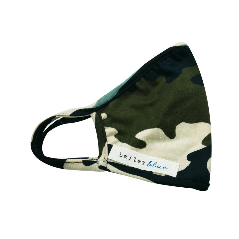 The Bailey Blue Pattern Face Coverings (Adults) Masks Bailey Blue Pattern - Navy Camo