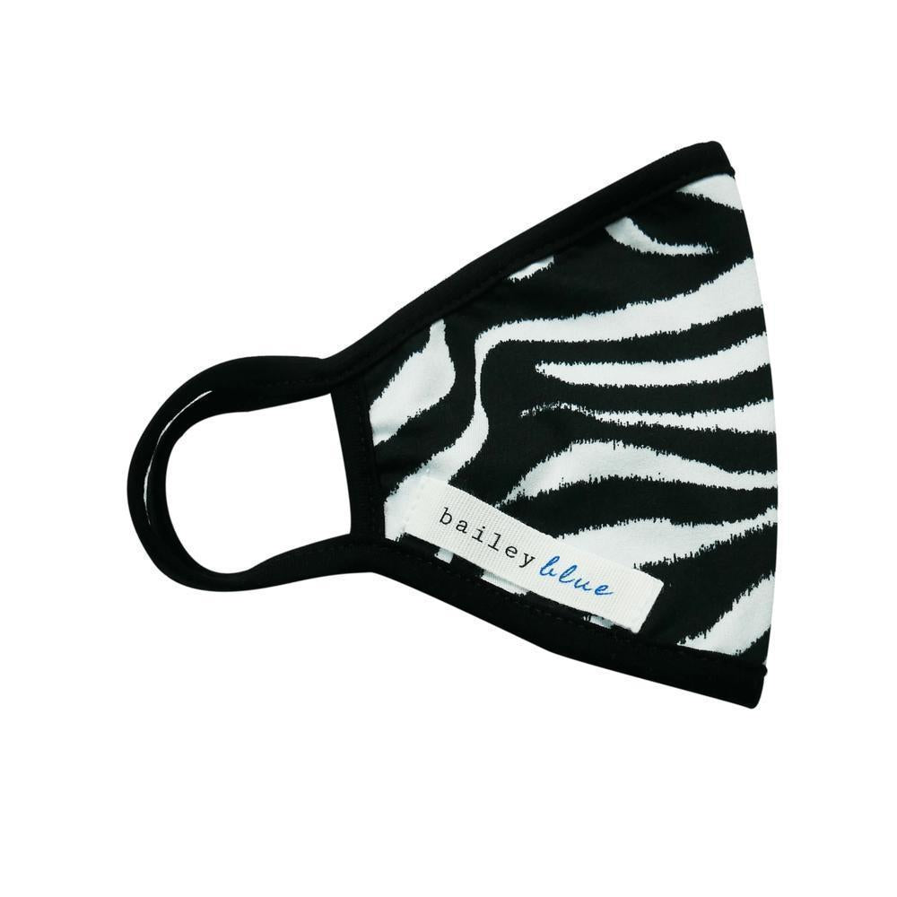 The Bailey Blue Pattern Face Coverings (Adults) Masks Bailey Blue Pattern - Zebra Black