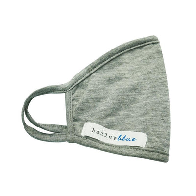 The Bailey Blue XL Face Coverings (Adults) Masks Bailey Blue Solid - Heather Grey