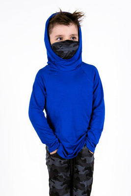 The Defender: Kids Hoodie Hoodie Bailey Blue