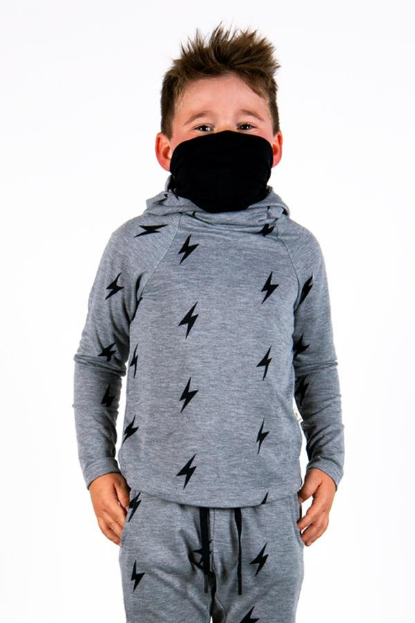 The Defender: Kids Hoodie Hoodie Bailey Blue Grey Lightning/Black 2|3