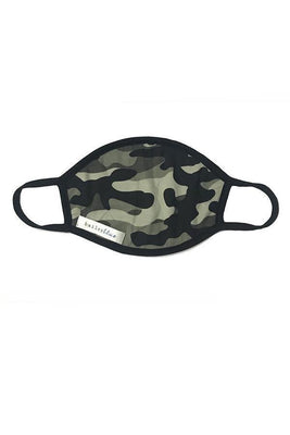 The Filtered Classic (Adults) Masks Bailey Blue Pattern - Black Camo