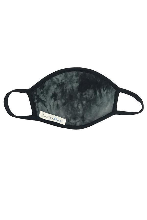 The Filtered Classic (Adults) Masks Bailey Blue Tie Dye - Black Marble