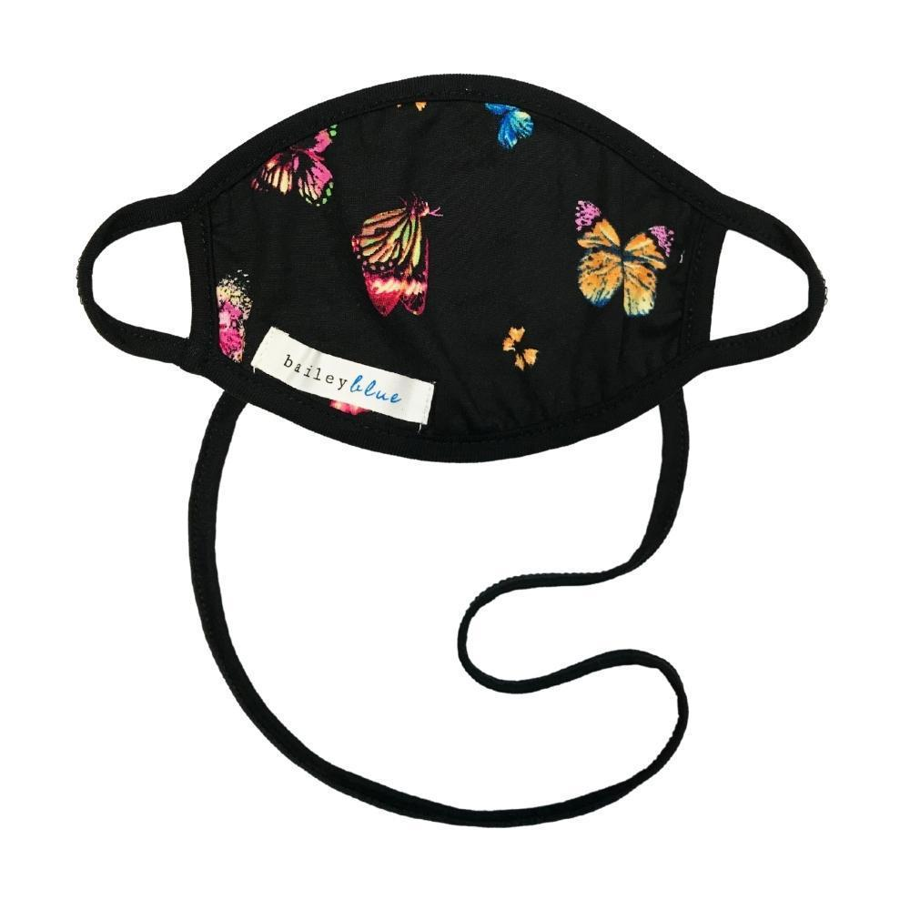 The Ultimate (Kids) Masks Bailey Blue Pattern - Black Butterfly