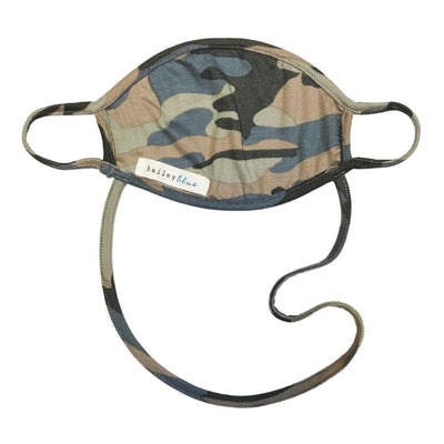 The Ultimate (Kids) Masks Bailey Blue Pattern - Camo