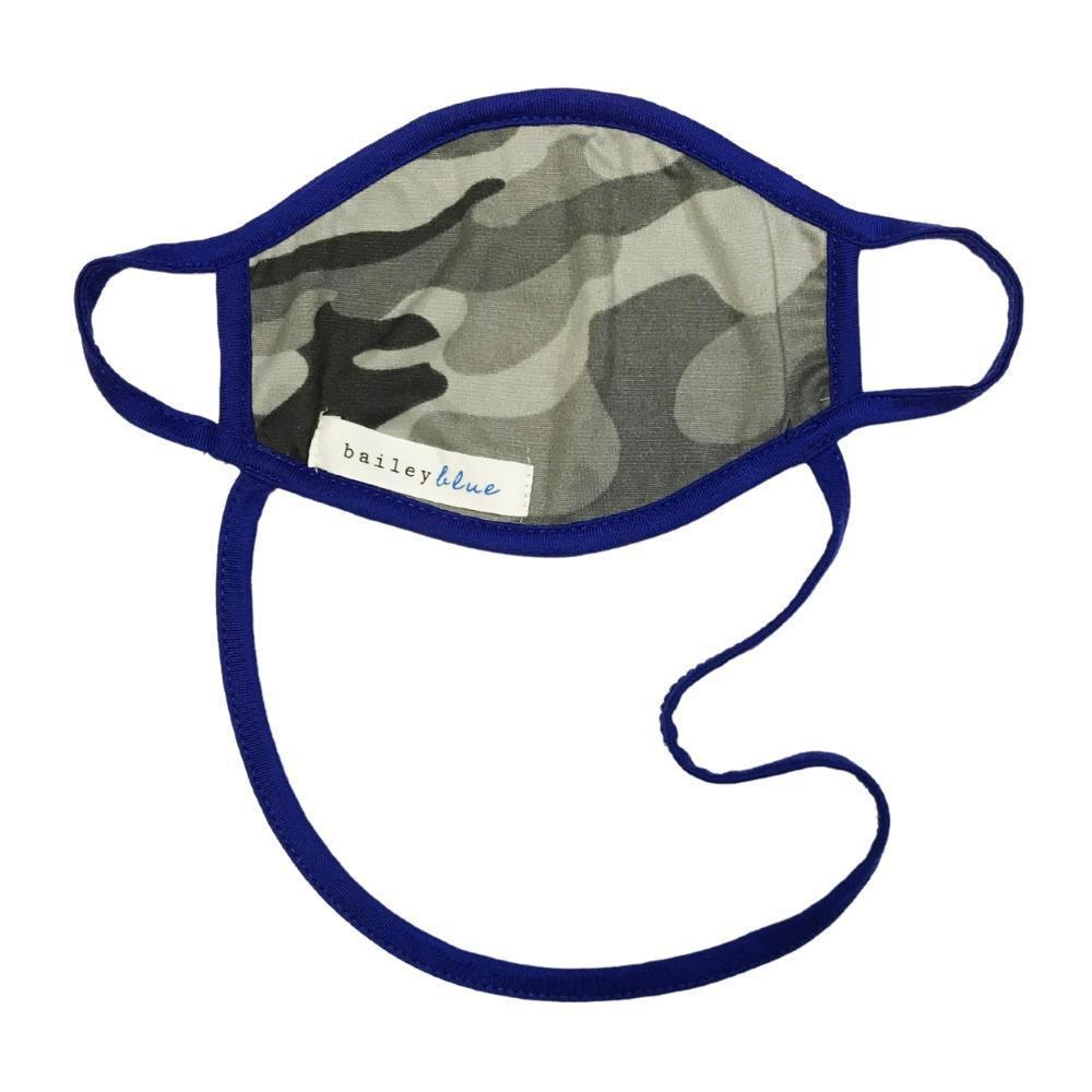 The Ultimate (Kids) Masks Bailey Blue Pattern - Grey Camo / Royal
