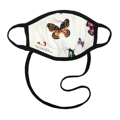 The Ultimate (Kids) Masks Bailey Blue Pattern - Neon Butterfly