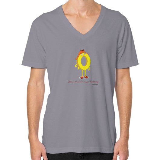 Zero Doesn't Mean Nothing V-Neck (on man) - Zelza Zero®  - 13