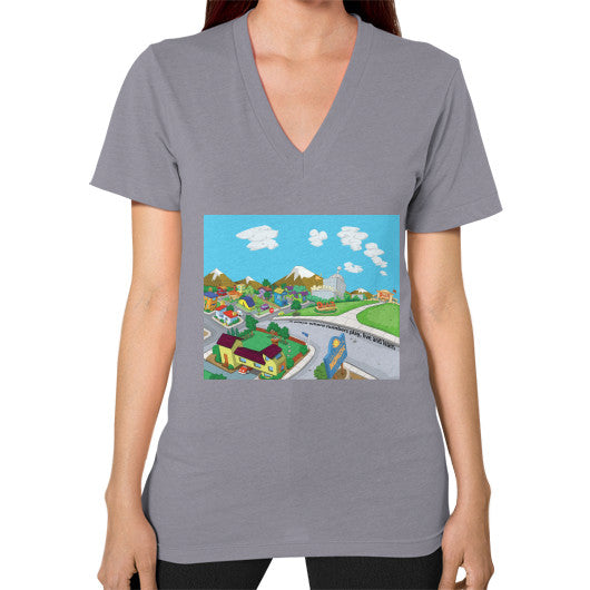 Numeric City V-Neck (on woman) - Zelza Zero®  - 13
