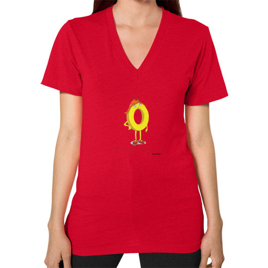 Zero Doesn't Mean Nothing V-Neck (on woman) - Zelza Zero®  - 12