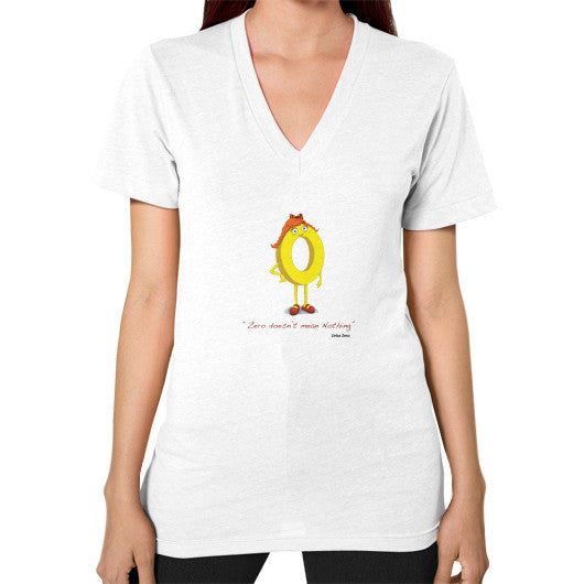 Zero Doesn't Mean Nothing V-Neck (on woman) - Zelza Zero®  - 1