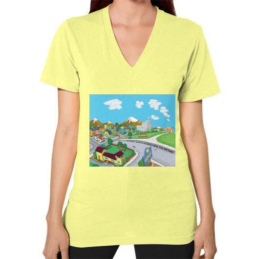 Numeric City V-Neck (on woman) - Zelza Zero®  - 7