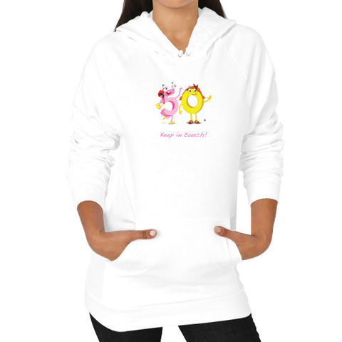 Hoodie (on woman) - Keep In Touch - Zelza Zero®  - 1