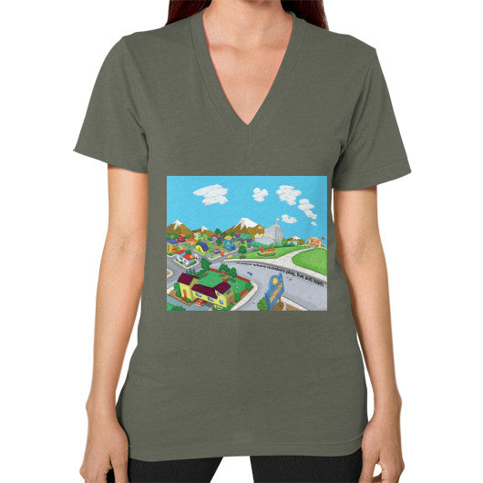 Numeric City V-Neck (on woman) - Zelza Zero®  - 8