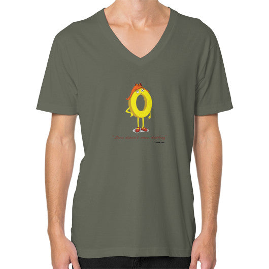 Zero Doesn't Mean Nothing V-Neck (on man) - Zelza Zero®  - 8