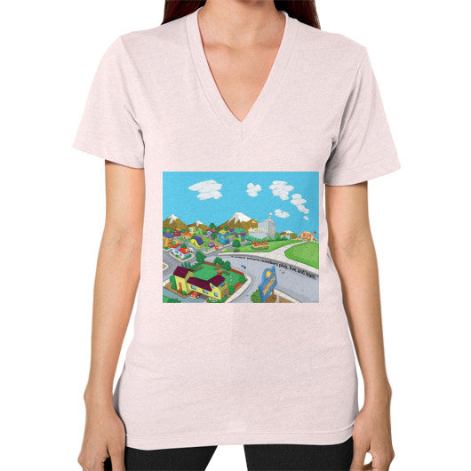 Numeric City V-Neck (on woman) - Zelza Zero®  - 10