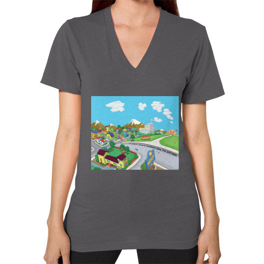 Numeric City V-Neck (on woman) - Zelza Zero®  - 3