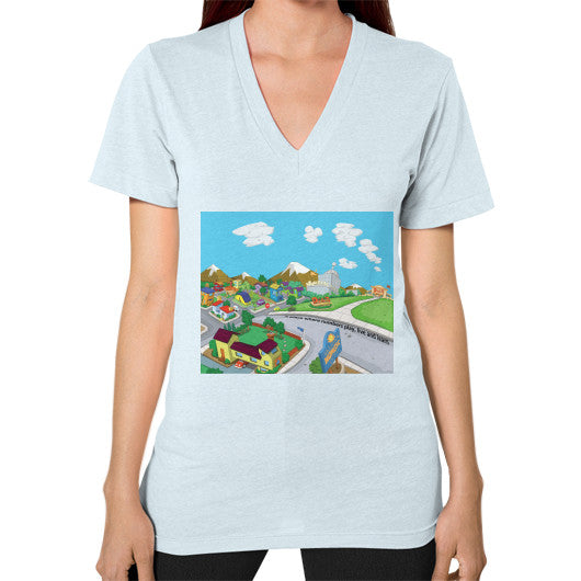 Numeric City V-Neck (on woman) - Zelza Zero®  - 9
