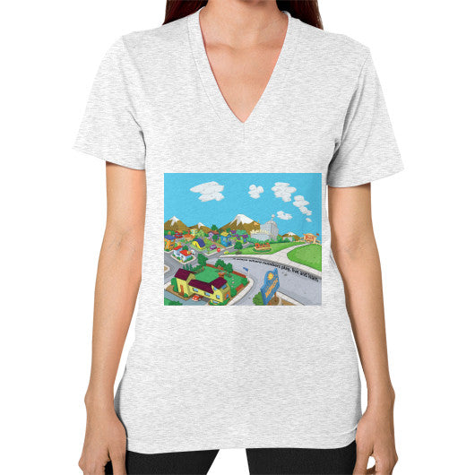 Numeric City V-Neck (on woman) - Zelza Zero®  - 2