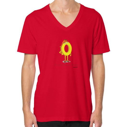 Zero Doesn't Mean Nothing V-Neck (on man) - Zelza Zero®  - 12