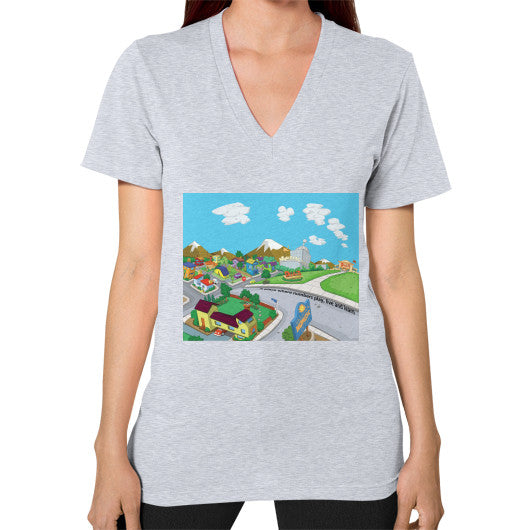 Numeric City V-Neck (on woman) - Zelza Zero®  - 6