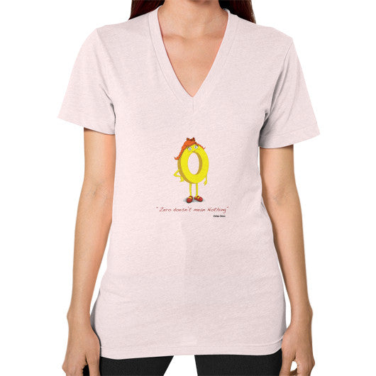 Zero Doesn't Mean Nothing V-Neck (on woman) - Zelza Zero®  - 10