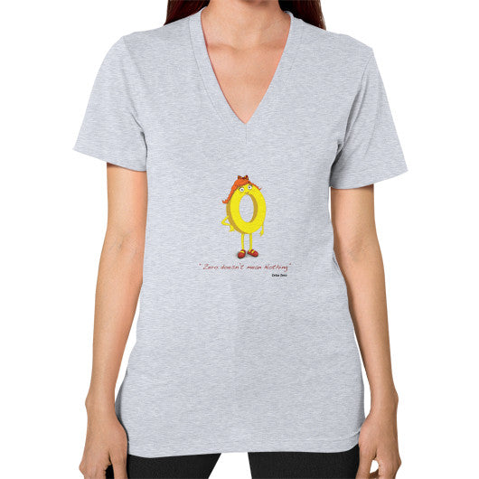 Zero Doesn't Mean Nothing V-Neck (on woman) - Zelza Zero®  - 6
