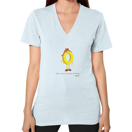 Zero Doesn't Mean Nothing V-Neck (on woman) - Zelza Zero®  - 9