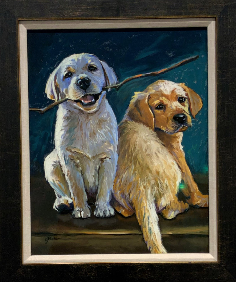 "ORIGINAL ""HEAD OR TAILS"" 16 X 20"" FRAMED"