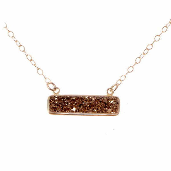HARPER DRUZY GEMSTONE BAR NECKLACE