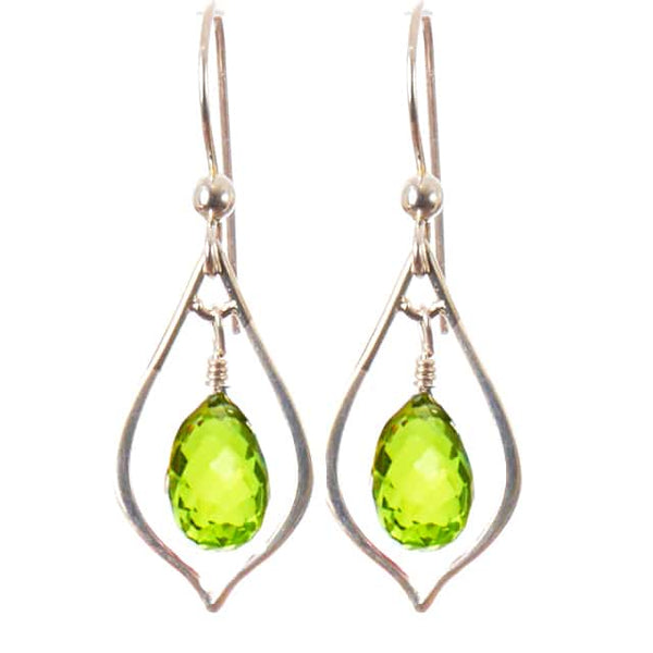 ELEGANT EVERYDAY EARRINGS WITH TEARDROP GEM